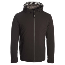 JUST OVER THE TOP, Artic ml capuche stretch leger, Black