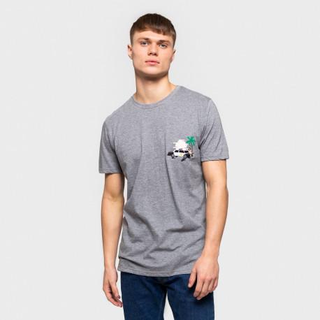 Evald t-shirt - Grey-mel
