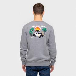 RVLT, Dan sweatshirt, Grey-mel