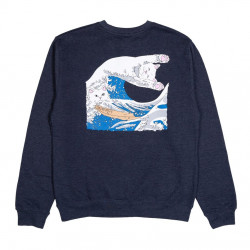 RIPNDIP, Great wave crewneck, Navy