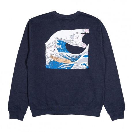 Great wave crewneck - Navy