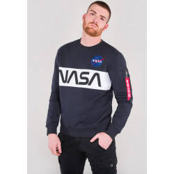 ALPHA INDUSTRIES, Nasa inlay sweater, Rep.blue