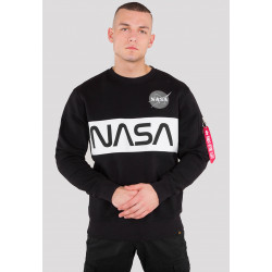 ALPHA INDUSTRIES, Nasa inlay sweater, Black