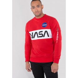 ALPHA INDUSTRIES, Nasa inlay sweater, Speed red