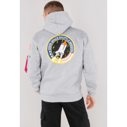 ALPHA INDUSTRIES, Space shuttle hoody, Grey heather