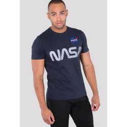 ALPHA INDUSTRIES, Nasa reflective t, Rep.blue