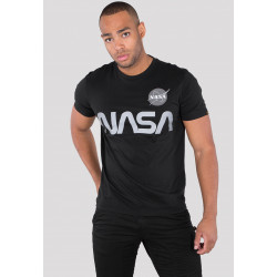 ALPHA INDUSTRIES, Nasa reflective t, Black
