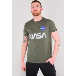 ALPHA INDUSTRIES, Nasa reflective t, Dark olive