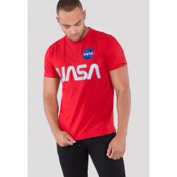 ALPHA INDUSTRIES, Nasa reflective t, Speed red
