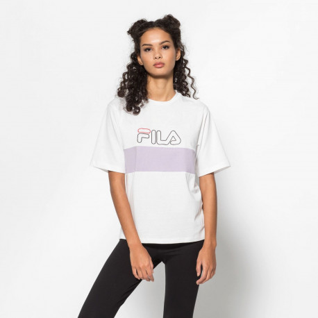 Women lei tee ss - Bright white-orchid petal