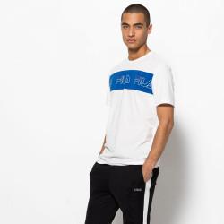 FILA, Men aki logo tee, Bright white-lapis blue