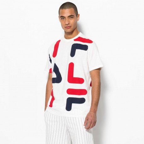 Men bennet letter aop block tee - Chinese red