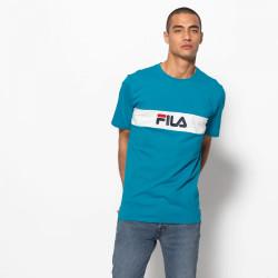 FILA, Men nolan tee dropped shoulder, Caribbean sea-bright white