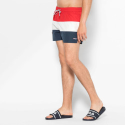 FILA, Men saloso swin shorts, Black iris-true red-bright white