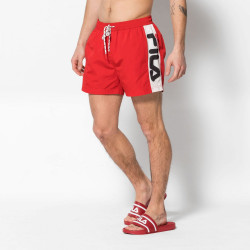 FILA, Men safi swim shorts, True red-bright white