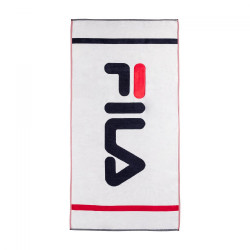 FILA, Beach towell, Bright white-true red-black iris