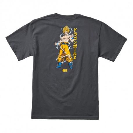 T-shirt dbz super saiyan goku - Charcoal