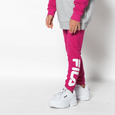 Kids flex leggings - Pink yarrow