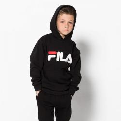 FILA, Kids classic logo hood kangaroo, Black