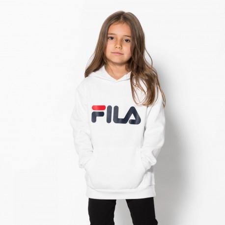 Kids classic logo hood kangaroo - Bright white