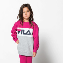 FILA, Kids night blocked crew, Light grey mel bros-pink yarrow-bright white