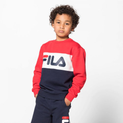 FILA, Kids night blocked crew, Black iris-true red-bright white