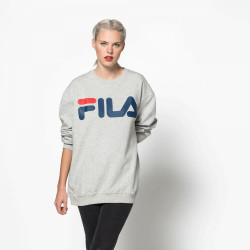FILA, Classic logo sweat, Light grey melange bros
