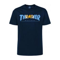 THRASHER, T-shirt argentina ss, Navy