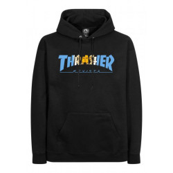 THRASHER, Sweat argentina hood, Black
