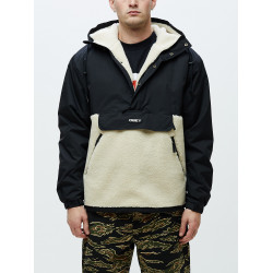 OBEY, Splits sherpa anorak, Black multi