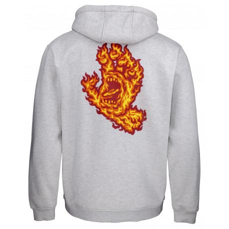 Flame hand hood - Athletic heather