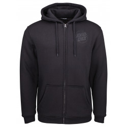 SANTA CRUZ, Blackout zip hood, Black
