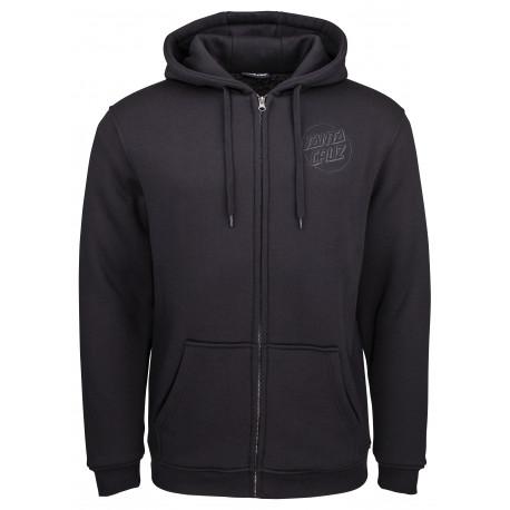 Blackout zip hood - Black