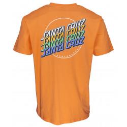 SANTA CRUZ, Multi strip tee, Tangerine