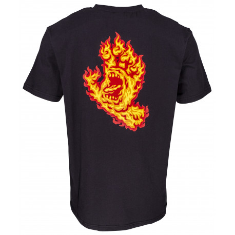 Flame hand tee - Black
