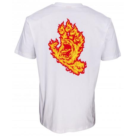 Flame hand tee - White