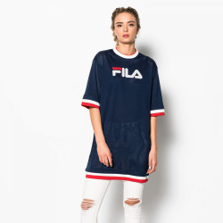 FILA, Drew mesh dress, Peacoat-red-white
