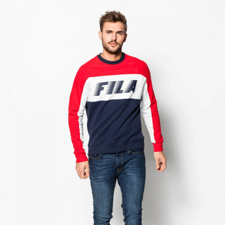 Layton colour block sweatshirt - Peacoat-red-white