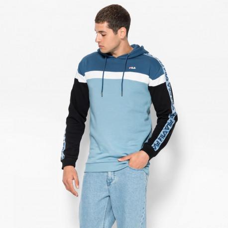 Men robben tape hoodie - Blue shadow-ensign blue-black-bright white