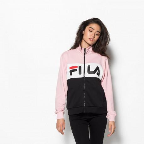 Women bronte track jacket - Coral blush-bright white-black