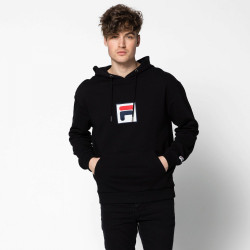 FILA, Men shawn hooded sweat, Black