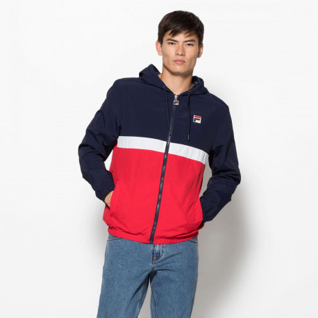 Men tate half zip jacket - Peacoat-red-white