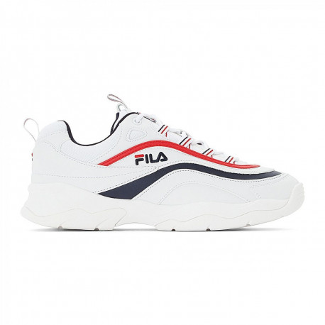 Ray low - White / fila navy / fila red