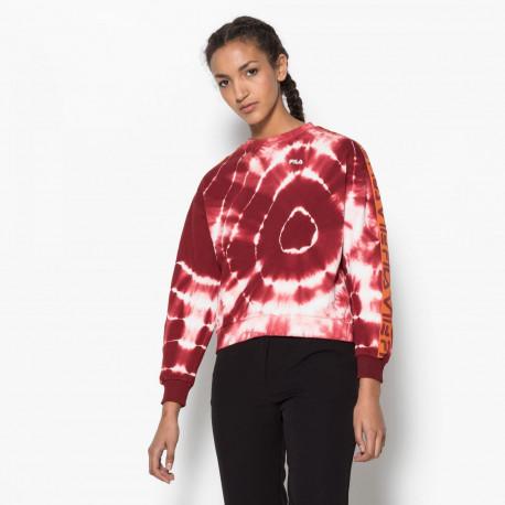 Women tamarr print crew sweat - Glaxy batik print