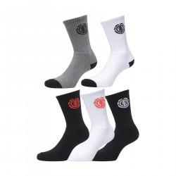 ELEMENT, High-rise socks 5 p., Multico