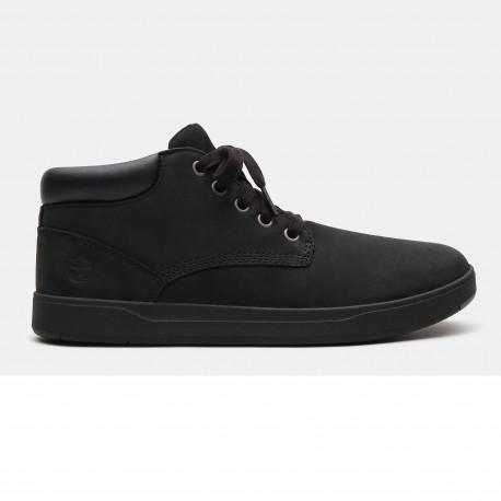 Davis square leather - Black