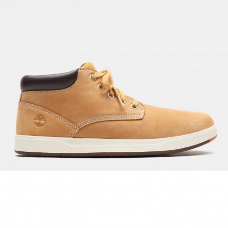 Davis square leather - Wheat