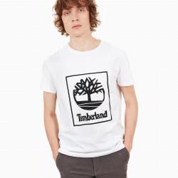 TIMBERLAND, Sls ss seasonal logo tee, White