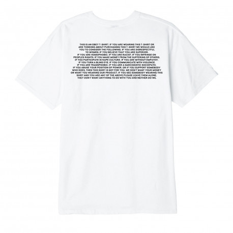 This is an obey t shirt - White