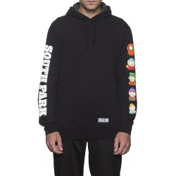 HUF, X south park sweat kids hood, Black